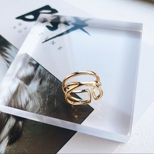 Jewelry - 18K Gold Plated Retro Minimalist Ring